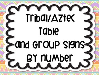 Tribal Aztec Bohemian Modern Table Group Labels Signs Orga