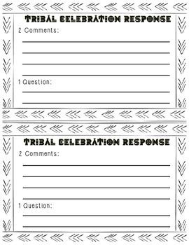 Tribal Celebrations Response Cards