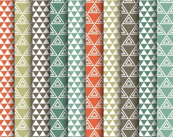 Tribal Pyramid Papers, Tribal, Pyramid, Set #253