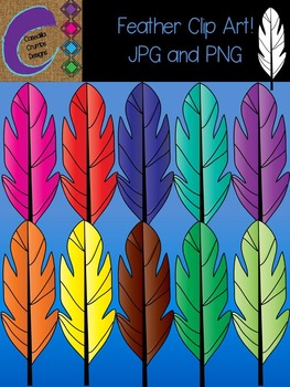 Tribal Rainbow Feather Clip Art Images Designs