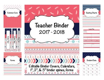 Tribal Teacher Binder 2016-2017 (Covers, Spines, Forms & C