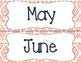 Tribal Theme Calendar Month Headers - Coral & Navy