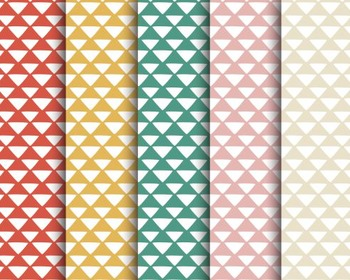 Tribal Triangle Papers, Tribal, Triangle, Set #246