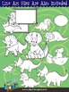 Triceratops Clip Art Collection