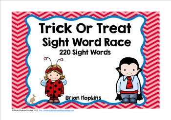 Trick Or Treat Halloween Sight Word Race