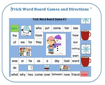 Trick Word Board Games