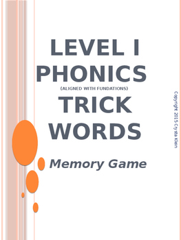 Trick Words Level 1