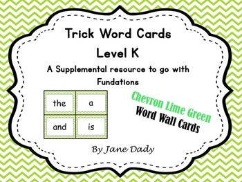 Trick Words Level K- Chevron Lime Green