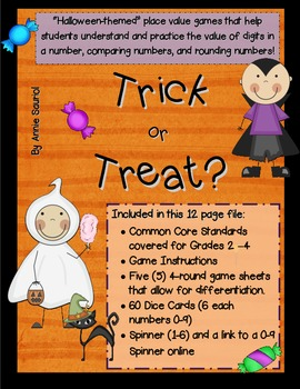 Halloween Trick or Treat: A Place Value Math Game Common C