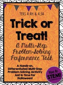 Trick or Treat Math! A Halloween Multi-Step Problem Solvin