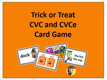 Trick or Treat CVC and CVCe Card Game