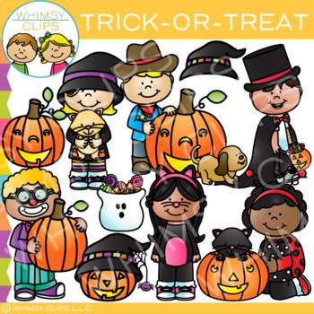 Trick-or-Treat Halloween Clip Art