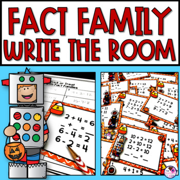 Trick or Treat Fact Family Write the Room