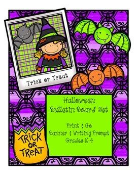 Trick or Treat - Halloween Bulletin Board Set