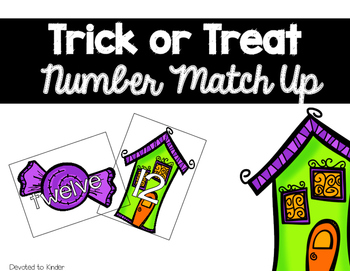 Trick or Treat Number Match Up
