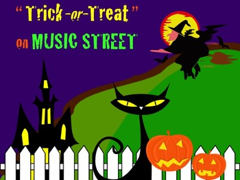 Trick-or-Treat On Music Street Solfege PowerPoint with Narration