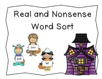 Trick or Treat Real and Nonsense Word Sort