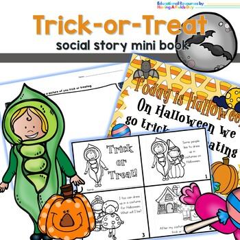 Trick or Treat Social Story Mini Book Set
