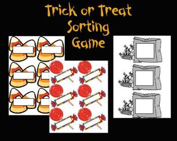 Trick or Treat Sorting Activity