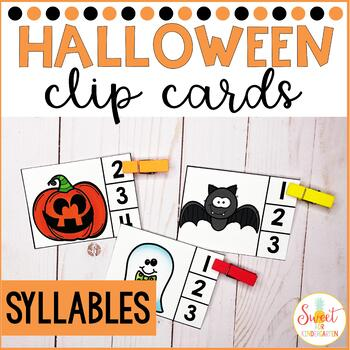 Trick or Treat Syllables Clip-It