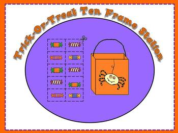 Trick or Treat Ten Frame Differentiated Station or Center