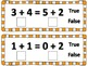 Trick or Treat: True/False Addition Equations