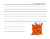 Trick or Treat Writing Paper {FREEBIE}