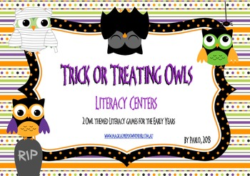 Trick or Treating Owls: Literacy Centers
