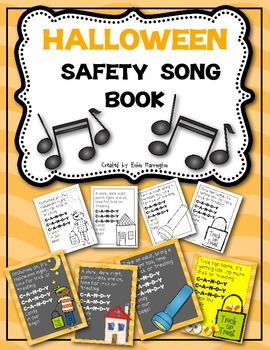 Trick or Treating Safety Song Book for Young Students {Halloween}