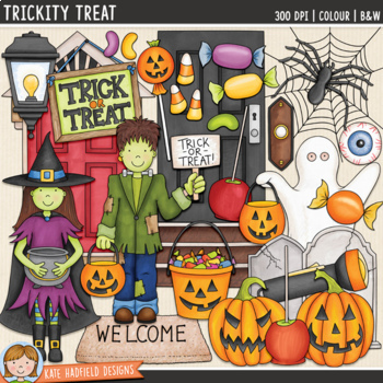 "Halloween Clip Art 3: ""Trickity Treat"""