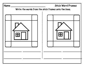 Sight Words Activity : Tricks with Sticks