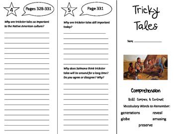 Tricky Tales Trifold - California Treasures 5th Grade Unit