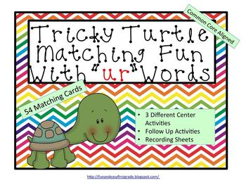 "Tricky Turtle Matching Fun with ""ur"" Words (Common Core Aligned)"