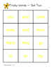 Tricky Word/Sight Word Bingo - Set 2 - Jolly Phonics