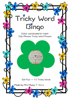 Tricky Word/Sight Word Bingo - Set 4 - Jolly Phonics