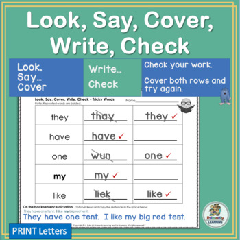 Amazing Sight Word Practice happens with Look Say Cover Wr