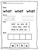 Jolly Phonics Tricky Words Worksheets Set 3