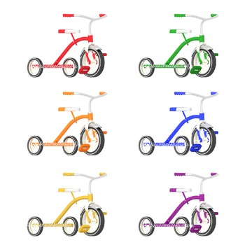 Tricycle Clipart, Preschool Clipart, Summer Clipart, Comme