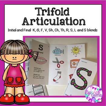 Articulation Trifolds Initial K, G, F and V sounds