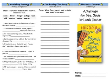Harcourt Journeys Unit 1 All Stories Trifold