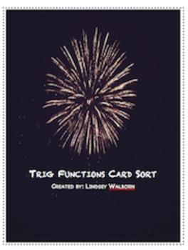 Trig Function Card Sort