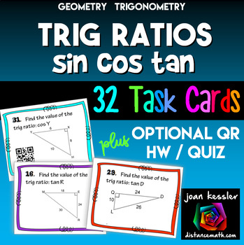 Trig Ratios of Right Triangles  Task Cards plus HW/Quiz -