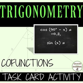 Trigonometric Function:  Cofunctions Practice and Review T