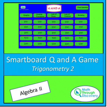 Algebra II Smartboard Q and A Game - Trigonometry 2