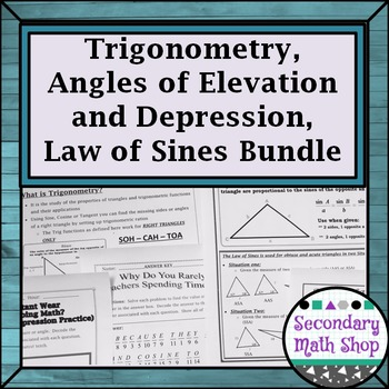 Right Triangles Trig -Angles of Elevation/Depression Law o