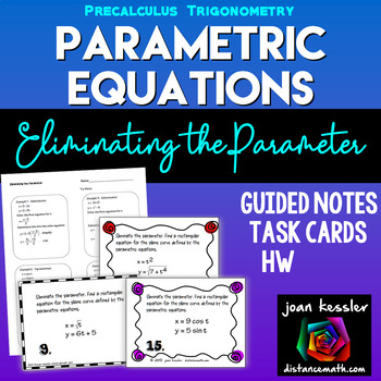 Parametric Equations Trigonometry Calculus BC   Task Cards