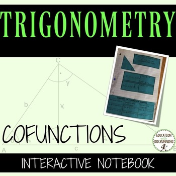 Trigonometric Functions Interactive Notebook Pages for Co-