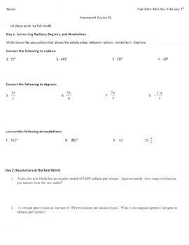 Trigonometry Homework & Quiz - From Conversions to the Uni