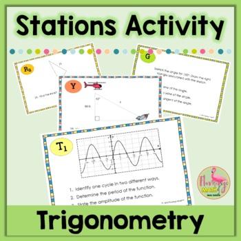Algebra 2: Trigonometry Stations Activity
