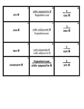 Trigonometry Sort Match